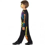 Costume enfant squelette fluo profil