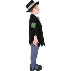 Costume enfant victorien courageux profil