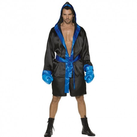 Costume homme boxeur noir bleu