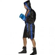 Costume homme boxeur noir bleu profil