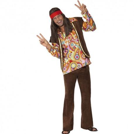 Costume homme 1960 hippie psychédélique