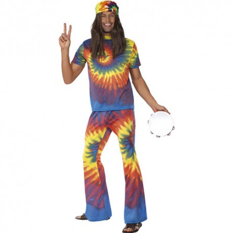 Costume homme 1960 hippie coloré
