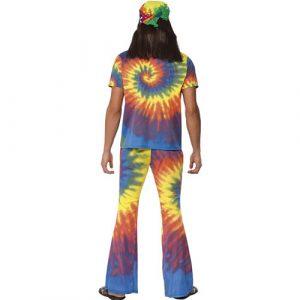 Costume homme 1960 hippie coloré dos