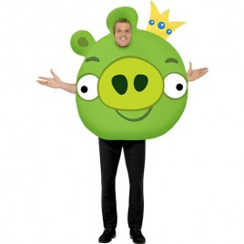 Costume homme Angry Birds cochon vert