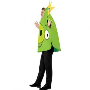 Costume homme Angry Birds cochon vert profil
