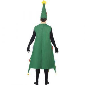 Costume homme arbre de Noël deluxe dos