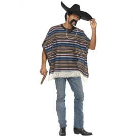 Costume homme Authentic poncho