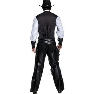 Costume homme Authentic western bandit armé dos