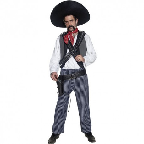 Costume homme Authentic western bandit mexicain