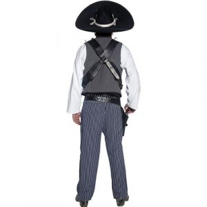 Costume homme Authentic western bandit mexicain dos