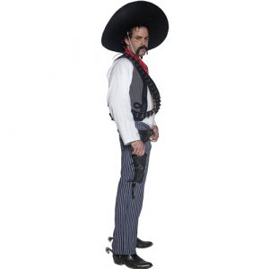 Costume homme Authentic western bandit mexicain profil