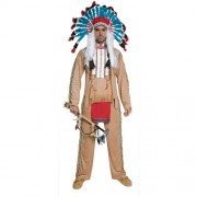 Costume homme Authentic western chef indien avec accessoires