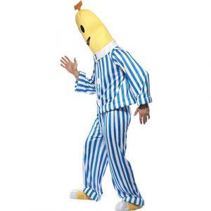 Costume homme banane en pyjama profil