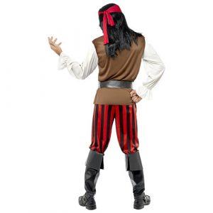 Costume homme de bateau pirate dos