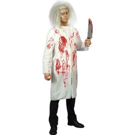 Costume homme blouse blanche ensanglantée
