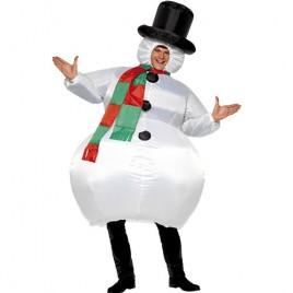Costume homme bonhomme de neige gonflable
