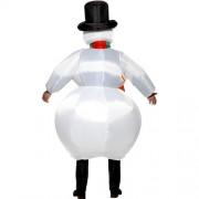 Costume homme bonhomme de neige gonflable dos