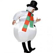 Costume homme bonhomme de neige gonflable profil