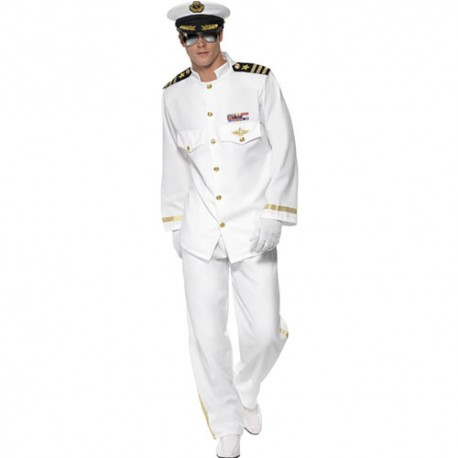 Costume homme capitaine blanc