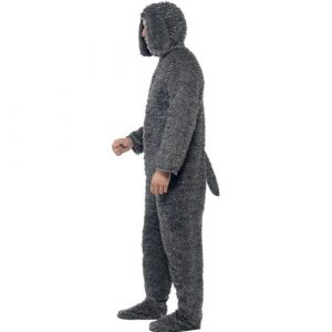 Costume homme chien peluche profil