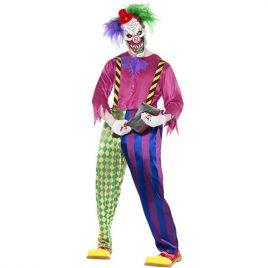 Costume homme clown tueur coloré