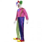 Costume homme clown tueur coloré profil