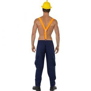 Costume homme combattant du feu sexy dos