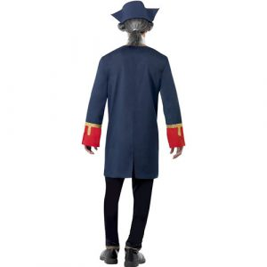 Costume homme commandant pirate dos