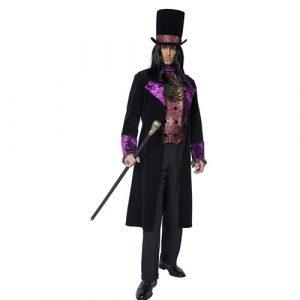 Costume homme comte gothique avec accessoires