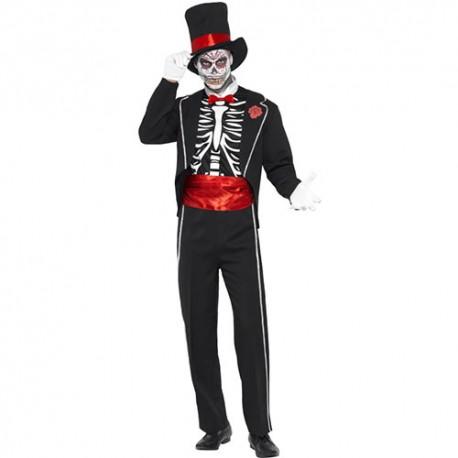 Costume homme squelette élégant