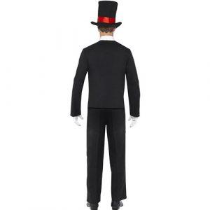 Costume homme squelette élégant dos