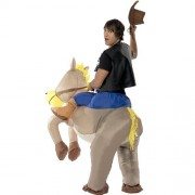 Costume homme cowboy cheval gonflable dos