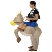 Costume homme cowboy cheval gonflable profil