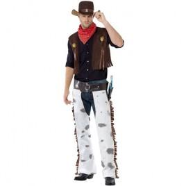 Costume homme cowboy marron blanc