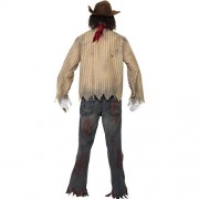 Costume homme cowboy zombie dos