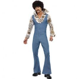 Costume homme danseur groovy bleu