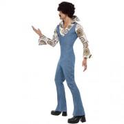 Costume homme danseur groovy bleu profil