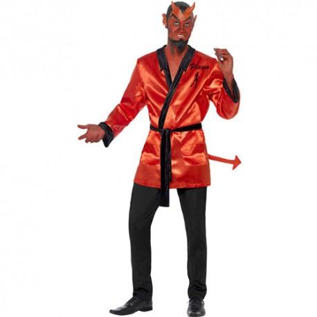 Costume homme diable peignoir