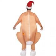 Costume homme dinde rôtie gonflable dos