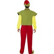 Costume homme elfe vert jaune rouge dos