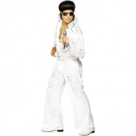 Costume homme Elvis blanc