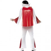 Costume homme Elvis blanc rouge dos