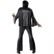 Costume homme Elvis noir doré dos