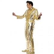 Costume homme Elvis doré profil