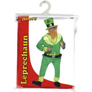 Costume homme farfadet vert pochette