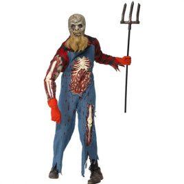 Costume homme fermier zombie