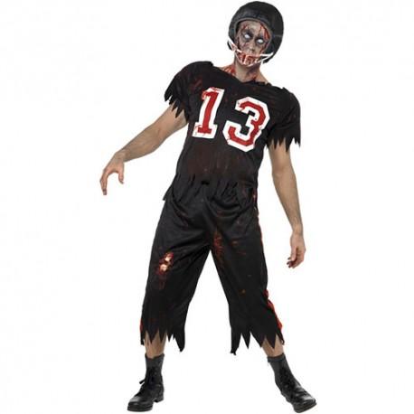 Costume homme footballeur américain zombie