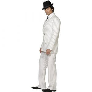 Costume homme gangster blanc profil