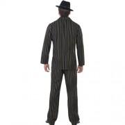 Costume homme gangster noir dos