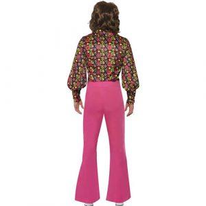 Costume homme hippie années 1960 rose dos